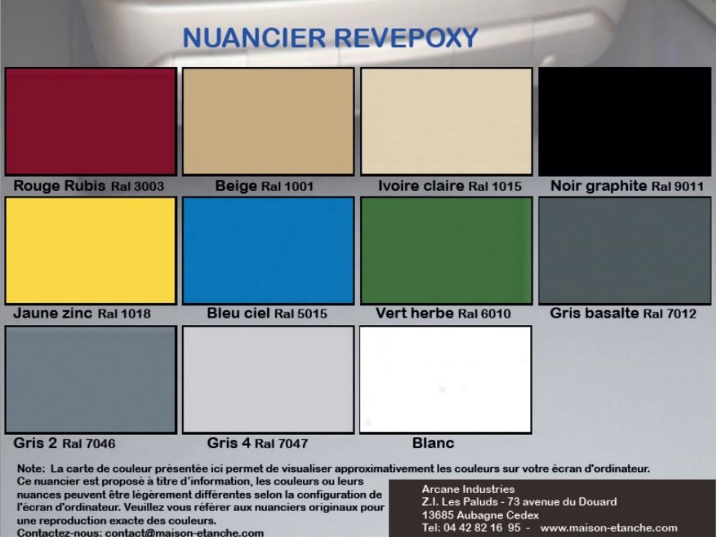 Sol epoxy auto lissant revepoxy al arcane industries for Peinture carrelage julien nuancier