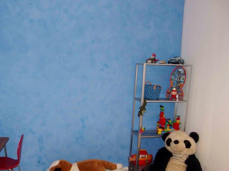Peinture la chaux bleu nice bleu azur arcane - Peinture pour chambre d enfant ...