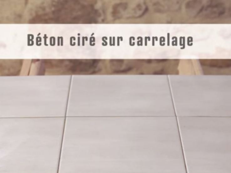 Bton cir carrelage mural excellent charmant salle de bain for Beton mineral sur carrelage