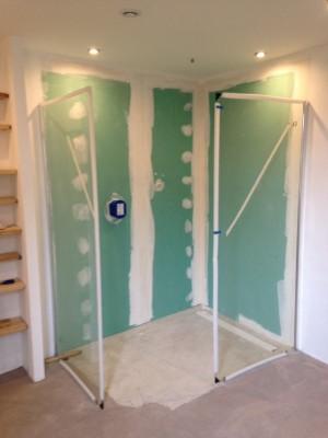comment r aliser une douche l 39 italienne en b ton cir arcane industries. Black Bedroom Furniture Sets. Home Design Ideas