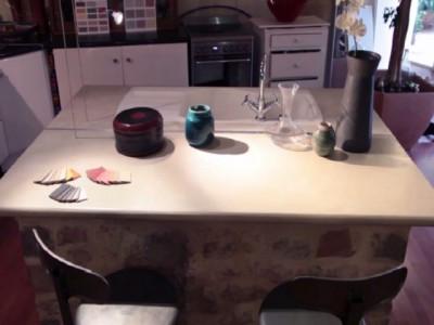 lot central en b ton cir espace cuisine arcane industries. Black Bedroom Furniture Sets. Home Design Ideas